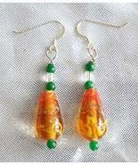Judy Strobel Elegant Vintage Art Glass Earrings  - $14.95
