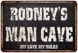 RODNEY'S Man Cave Black Grunge Sign Home Décor Gift Cave Funny 8120004340 - $18.95+