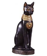 Egyptian Cat Goddess Resin Statue 8 Inches Tall - $34.99