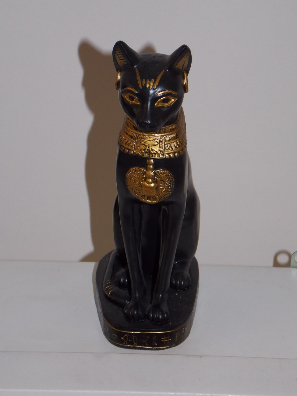 Egyptian Cat Goddess Resin Statue 8 Inches Tall