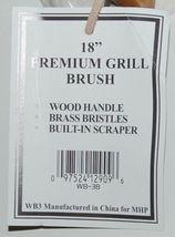 MHP WB3B Premium Grill Brushes Wood Handle Brass Bristles Scraper image 5