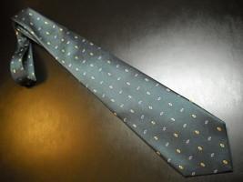 Countess Mara Neck Tie Gold Label Silk Italian Green Blue Diamonds Gold ... - $15.99