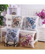"17"" Vintage Double-sided Printing Flowers Bamboo Linen Sofa Decor Cushio... - $3.77"