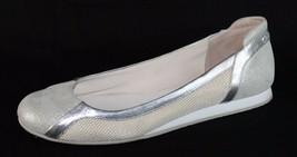 Calvin Klein Starla women's ballerina shoes silver metallic slip on size 9.5M - $21.99