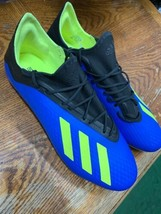 adidas x 18.2 fg Blue Neon Black Soccer Cleats Limited Edition Size Mans... - $99.00