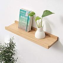 Floating shelf, Solid White OAK Wood Timber Block Picture Shelf Wall Mou... - $30.01