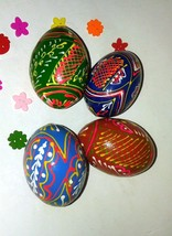 Hand-painted Wooden Easter Egg Decoration Uniqie W Easter Ostern Home Decor 1pcs - $6.80
