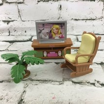 Fisher Price Loving Family Lot TV Entertainment Center Rocking Chair Hou... - $16.82
