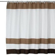 DKNY Color Block Cafe 72-Inch W x 72-Inch L Fabric Shower Curtain - $60.00