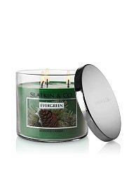 Bath & Body Works Slatkin & Co. EVERGREEN 3 Wick Scented Candle14.5 oz. / 411 g