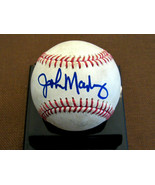 JOHN MAYBERRY ROYALS HOF 2X A/S YANKEES SIGNED AUTO GAME USED OML BASEBA... - $89.09