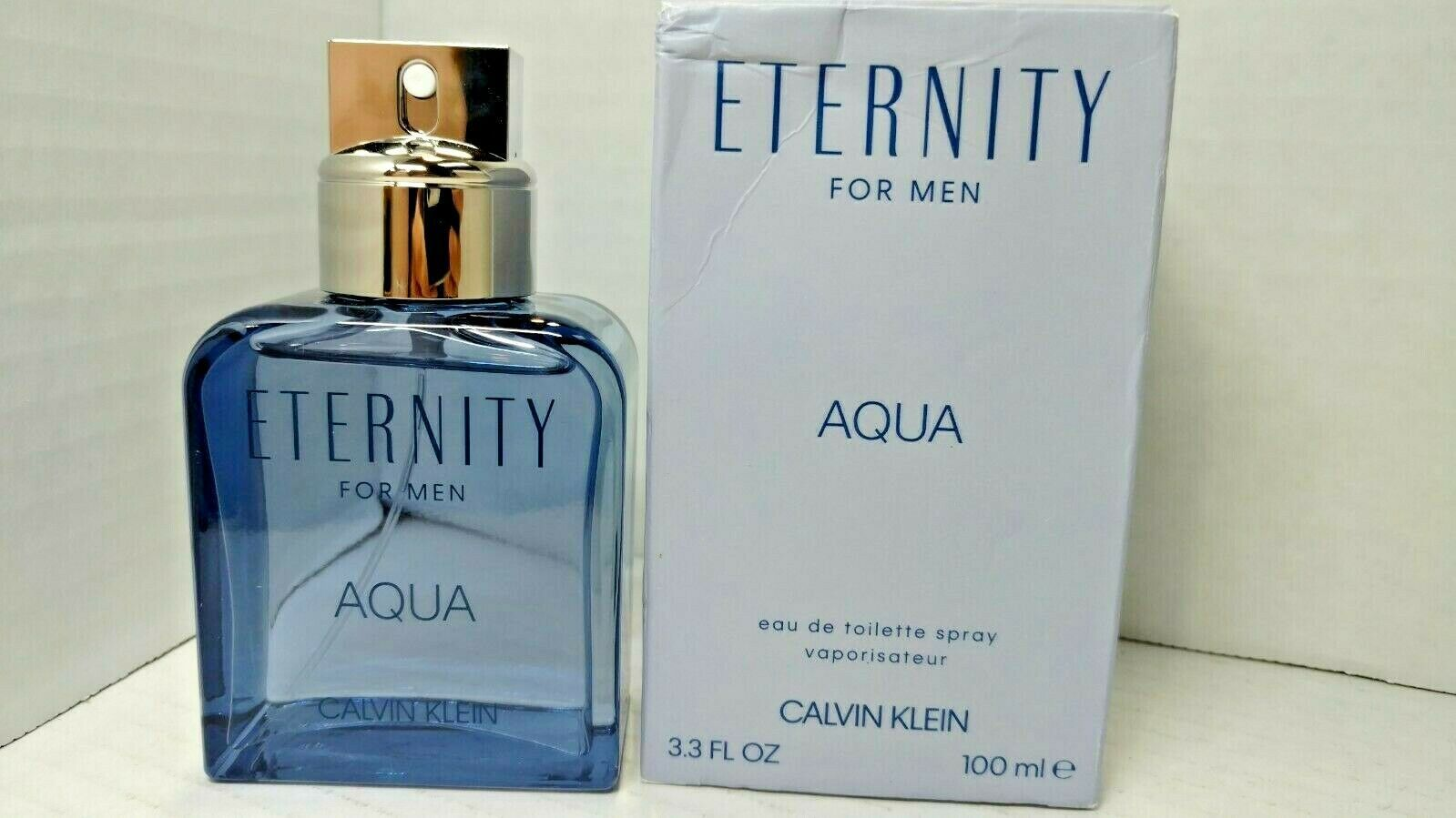 Eternity Aqua by Calvin Klein for Men 3.3 oz EDT Spray READ COMMENT