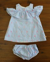 Kate Spade Girls 18 M  Blue Striped Ice Cream Popsicle Dress Cold Should... - $29.67