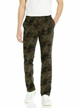 Goodthreads Men 28Wx28 Athletic Fit Stretch Canvas Camo Utility Pants Green image 1