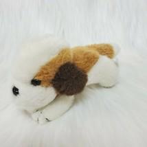 "6"" Vintage Keenway Puppy Dog Brown White Little Plush Stuffed Animal Toy... - $14.97"