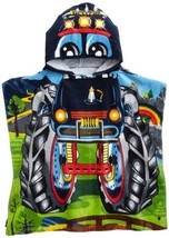 Northpoint Monster Truck Kids Hooded Beach Towel, 24 x 48 Inch - $14.74