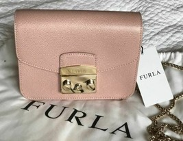 Furla Mini Julia Leather Top-Handle Bag Moonstone NWT - $191.04