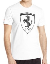 Puma Men's Premium Sport Ferrari Big Logo F1 Team Tee T-Shirt White 570681