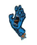 "SCREAMING BLUE HAND IRON ON PATCH 3.5"" Santa Cruz Skateboard Embroidery ... - $6.95"