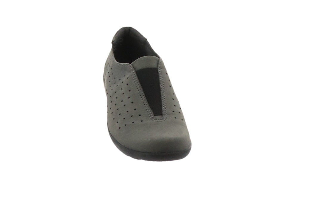 Clarks Perforated Slip-On Shoes Medora Gemma Grey 6.5W NEW A282691