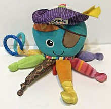 Lamaze Pirate Plush Octopus Baby Rattle Crinkle Teething Multicolor Infant - $9.63