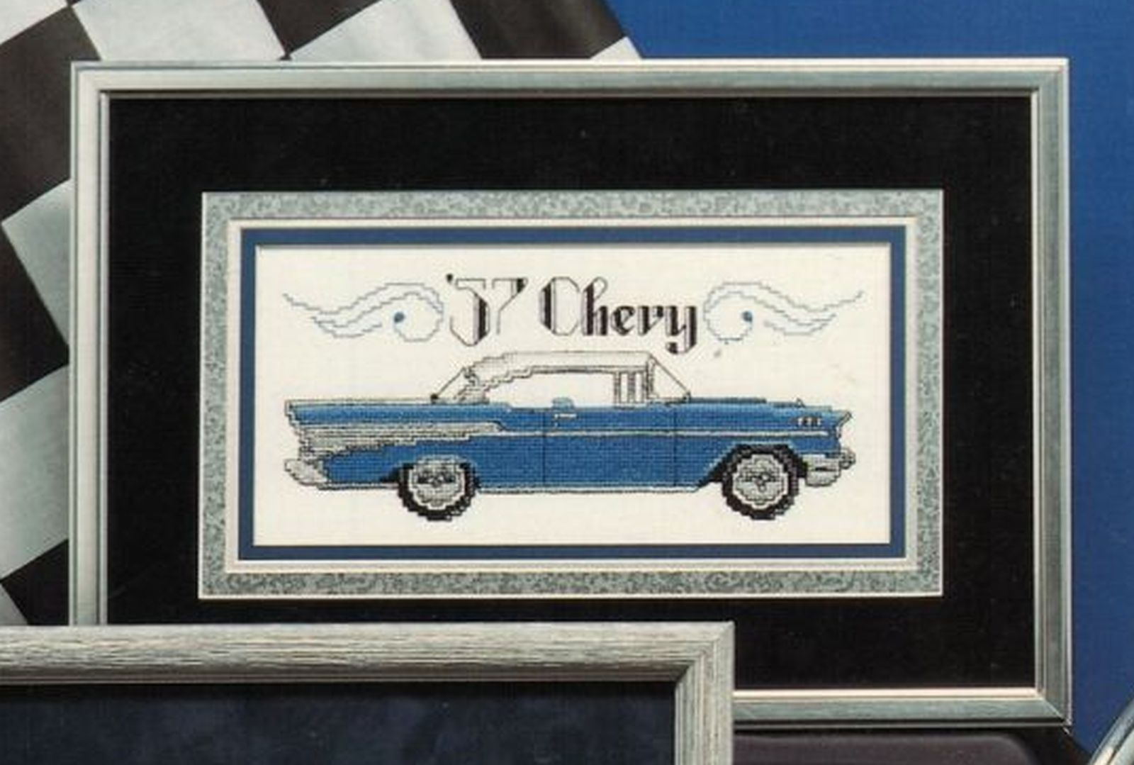 Cross Stitch 7 Classic Autos Mustang Charger Beetle Chevy Thunderbird Pattern
