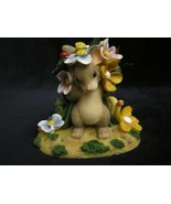 PEEK-A-BOO BOUQUET Charming Tails FIGURE mouse rabbit frog snail butterfly  - $17.99