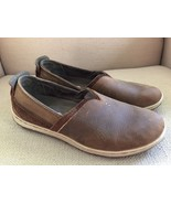 MERRELL BROWN SUGAR LEATHER FLATS LOAFERS SLIP ONS SIZE 8 - $32.42