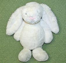 "12"" JELLYCAT IVORY Cream BASHFUL BUNNY Plush Stuffed Lop Eared Floppy WH... - $20.57"
