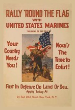 Rally 'round the flag with the United States Marines by Sidney H. Riesen... - $19.99+