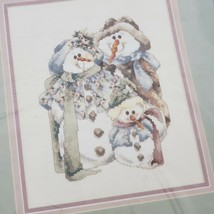 Janlynn Counted Cross Stitch Kit And Baby Makes Three Snowman Vtg 1998 #... - $16.83