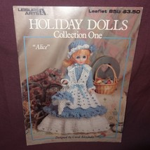 Holiday Dolls Dresses Thread Crochet 1989 Booklet 855 Leisure Arts Collection 1 - $10.99