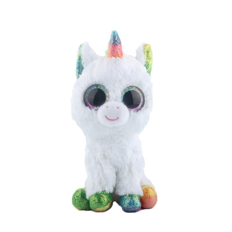 Ty Beanie Boos Stuffed & Plush Animal Colorful White Unicorn Toy Doll With Tag image 2
