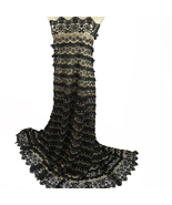 Black 3D Lace French Tulle Lace Women Swiss Voile African Lace Wedding P... - $79.96