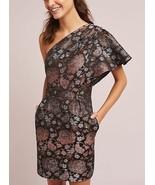 Anthropologie Rose One-Shoulder Dress by ML Monique Lhuillier $548 Sz 2 ... - $144.49