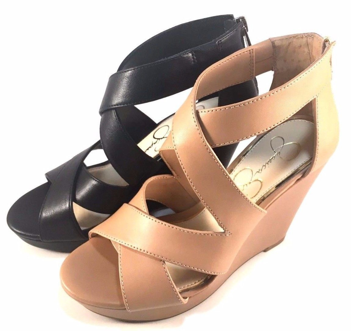 4e7b335499f S l1600. S l1600. Previous. Jessica Simpson Jenay Platform Wedge Closed  Back Strappy Sandals Choose ...