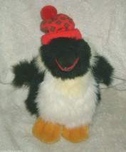 "12"" Vintage 1990 Christmas Commonwealth Perry Penguin Stuffed Animal Toy Plush - $18.70"