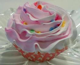 Pink Confetti Cupcake Fake Cupcake Decoration Prop - $5.93