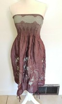 Anthropology Lapis Purple Strapless Ruched Convertible Dress Skirt One S... - $14.85