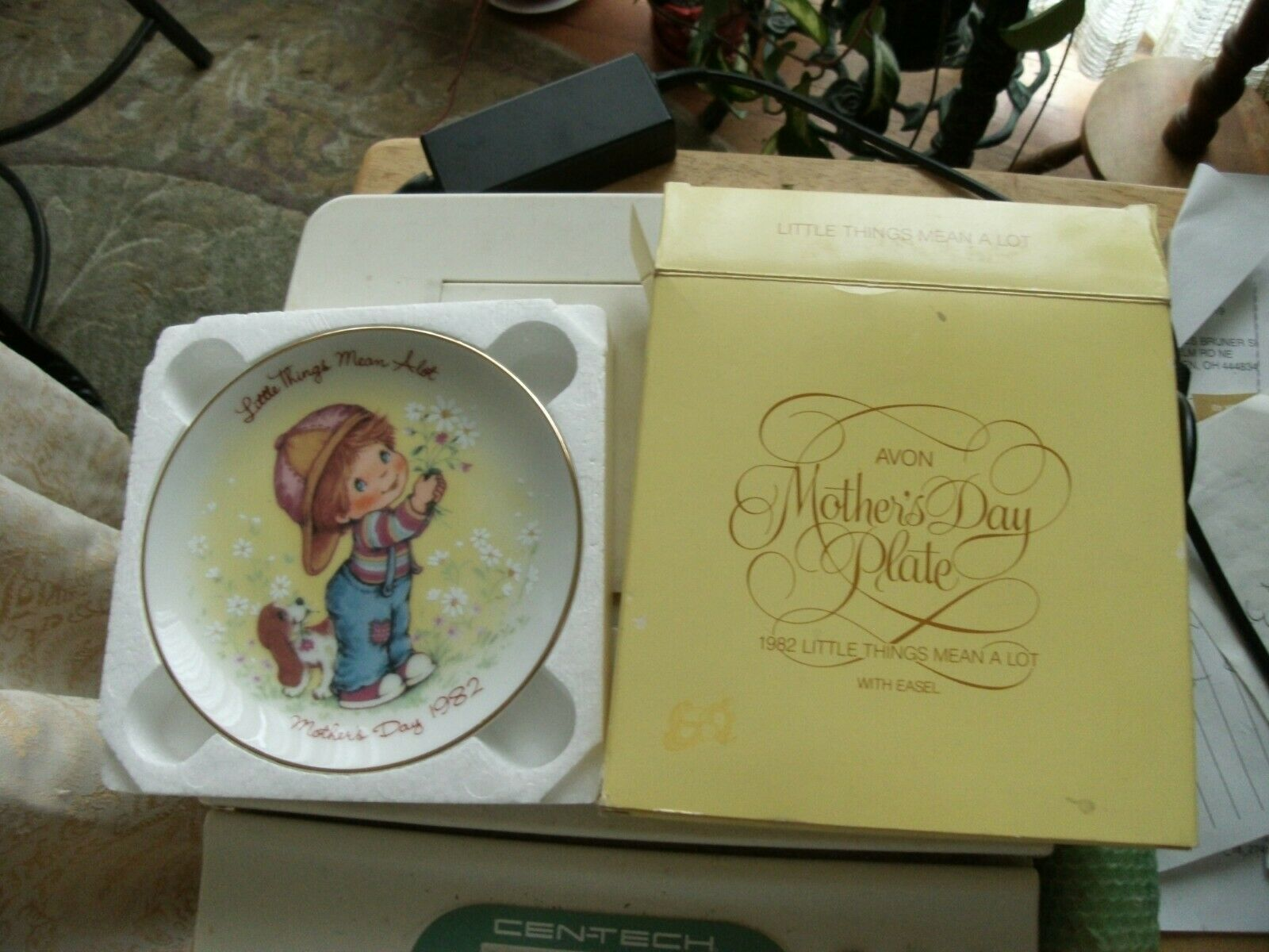 16#B   Vintage Avon Little Things Mean A Lot  Mothers Day Plate 1982