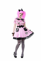 Rubies Pink Skelly Skelett Puppe Emo Gothic Punk Adult Halloween Kostüm ... - $32.99