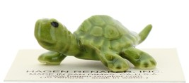 Hagen-Renaker Miniature Ceramic Turtle Figurine Tiny Green Mama Turtle