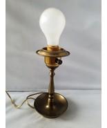 Vintage Brass Lamp M.B. Manhattan Brass Signed Electric Home Table Light - $56.77