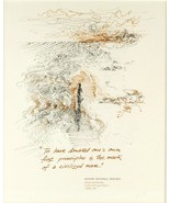 Andrew Rush Framed Print 1973 Oliver Wendell Holmes Quotation Quote Tucs... - $25.00