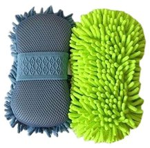 PANDA SUPERSTORE Set of 2 Scratch-Free Wash Mitt Auto Detailing Hand Car Wash Mi