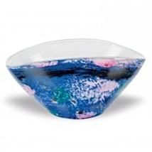 Monet 8.5x5.5 inch Oval Murano Style Art Glass ... - $60.00