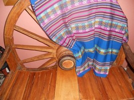 ocean blue blanket textile - $32.00