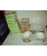 Bell Flower Fine China vintage Japan 64 PC set NEW OLD STOCK service for 8 - $99.00