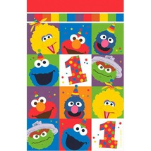 Elmo Turns One Plastic Tablecover 1st Birthday Party Sesame Street - $8.69