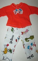 """18"""" doll clothes hand made outfit or pajamas Dr Seuss Thing 1 Thing 2 Fo... - $10.68"""